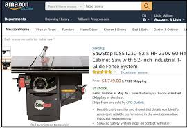 amazon aims at bigger furniture items heavier woodworking tools