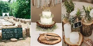 Wedding Ideas With Tree Stumps
