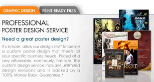 Custom Poster Graphic Design Service