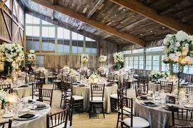 Calamigos Ranch Redwood Room Reception Rustic Wood Ceiling White And Green Centerpieces