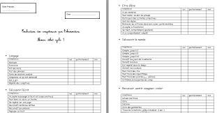 grille d 騅aluation atelier cuisine evaluation diagnostique cycle 1 abcd
