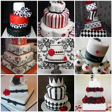 Black White Red Wedding Cake Ideas