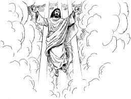 Jesus Returning Color Page