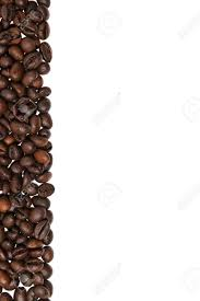 Coffee Beans Border Isolated On White Background Stock Photo