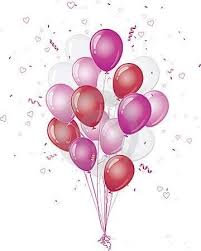 Birthday Balloons Clipart throughout Pink Birthday Balloons Clipart