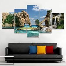 juntop 5 panel moderne natürliche schönheit hd kunstdruck