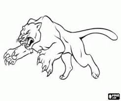 Black Panther Animal Coloring Pages