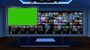 News TV Studio Set 53 Virtual Green Screen Background Loop Motion
