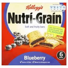 Kelloggs Nutri Grain Blueberry Cereal Bars 8x37G