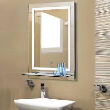 kleankin led badspiegel badezimmerspiegel mit beleuchtung glas ablage 22w 70x50cm
