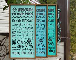 Maax Bathtubs Armstrong Bc by Welcome To Our Pool Rustic Distressed Pool Rules Wood Sign
