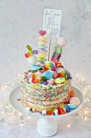 regenbogen torte backen rezept für rainbow cake