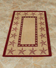New ListingBARN STAR AREA RUG COUNTRY RUSTIC PRIMITIVE THEMED INDOOR OUTDOOR HOME DECOR