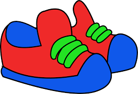 Red and Blue Sneakers Clip Art
