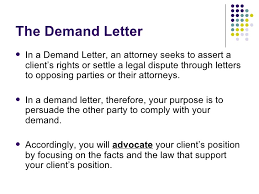 Correspondence The Demand Letter