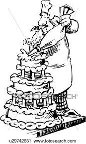 Clipart trade baker bakery cake cartoon people