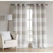 shop duck river textile 84 in grey polyester grommet light