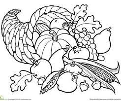 Cornucopia Printable Coloring Page