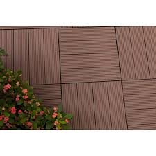 metawood deck tiles composite ipe snap to install no