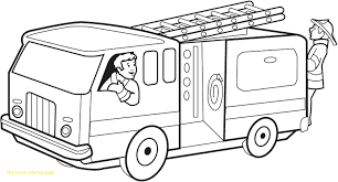 Fire Truck Coloring Page With Draw At Firetruck