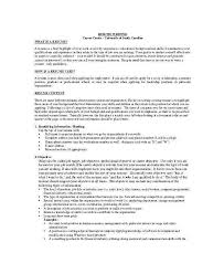 Writing A Good Resume Objective New Overview Examples Of Summary Profile