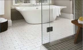 white bathroom floor tile peenmedia