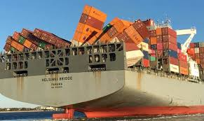 100 Shipping Container Shipping Ship Containers Collapse Loss Eastern US Coast