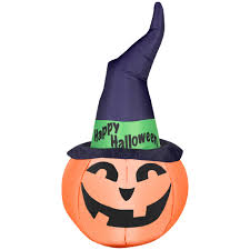 Halloween Airblown Inflatable Lawn Decorations by Airblown Inflatables Halloween Outdoor Decor Outdoor Pumpkin With