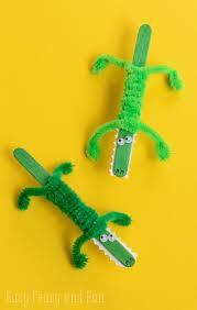 Craft Stick Crocodile For Kids To Make