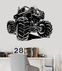 Vinyl Wall Decal Monster Truck Garage Decor Car Stickers Unique Gift ... Monster Trucks Wall Stickers Online Shop Truck Decal Vinyl Racing Car Art Blaze The Machines A Need For Speed Sticker Activity Book Cars Motorcycles From Smilemakers Crew Wild Run Raptor Monster Spec And New Stickers Youtube Build Rc 110 Energy Ken Block Drift Self Mutt Dalmatian Pack Jam Rockstar Sheets Get Me Fixed And Crusher Super Tech Cartoon By Mechanick Redbubble Ford Decals Australia