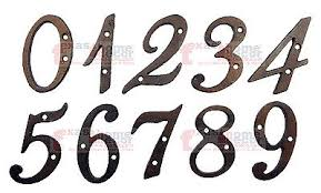 4 Inch Rustic Cast Iron Metal House Numbers Street Address Pick S From 0