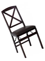 Details About Cosco Espresso Wood Folding Chair With Vinyl Seat And X-Back  (2-pack)