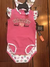Harley Davidson Crib Bedding by Harley Davidson Girls 3 6 Mos 2 Piece Set With Bib Nwt