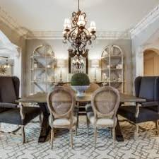 Soft Gray Dining Room With French Country Charm
