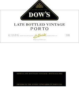 Dow's Late Bottled Vintage Port (Vintage Varies) - 750 ml bottle