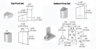US Aluminum Style fset Door Pivots TH1114U Doorware