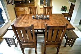 Mission Style Dining Room Chairs On Table