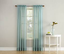 Blue Crushed Voile Curtains by Erica Semi Sheer Crushed Voile Rod Pocket Panel Valance With