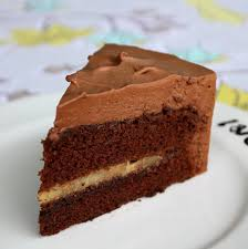 pepsakoy Bitter Dark Chocolate Mousse Cake with Banana Foster Filling