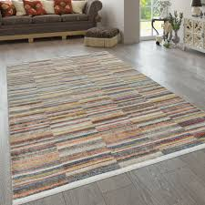 teppich wohnzimmer streifen muster