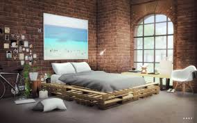 Pallet Bed Frame by My Sims 4 Blog Wooden Pallets Bed By Alachie U0026 Brick Sims