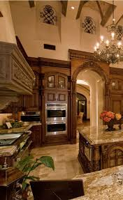 Cool Old World Mediterranean Italian Spanish Tuscan Homes Design Decor Kitchen Wood And Marble Brown Dreaming Of A Dream Home Decoration Remodeling
