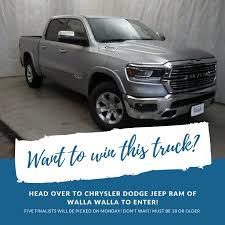 WANT TO WIN A BRAND NEW TRUCK!? We've... - My Columbia Basin | Facebook Enter To Win Blake Brown Edges Jerry Wood For Super Trucks Madison A Truck Tedlifecustomtrucksca My Ram Truck Universe Chevy Volt Ford Explorer Win 2011 North American Car And Of 2017 Gmc Sierra Sweepstakes Capitol City Buick Berlin Vt A Visit From The Cacola Truck Superlucky Kyle Busch Breaks Martinsville Drought With Race Nascar Parts Galore Dillon Cruises Pocono Series Sportsnetca Custom Nissan Titan Die Hard Fan Fort St Johns Dirtiest Tickets Corb Lund 1001 Moose Fm