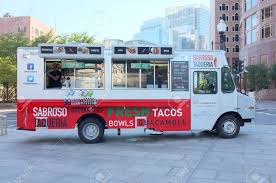 BOSTON, OCT. 7: Sabroso Taqueria Food Truck Parked In Downtown ...