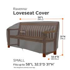Mor Furniture For Less Sofas by Amazon Com Classic Accessories Ravenna Patio Loveseat Cover