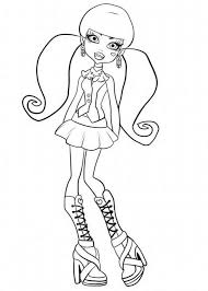 Cute Draculaura Monster High Coloring Page