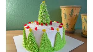 Christmas Tree Meringue Cake by How To Decorate A Christmas Tree Cake With Jill Youtube
