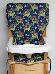 100 Frog High Chair Eddie Bauer Wooden High Chair Pad Replacement Cover Garden Deer On