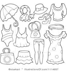 Clothes Cliparts For Summer Dress Clipart Black And White
