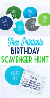 Easy Halloween Scavenger Hunt Clues by Birthday Scavenger Hunt Birthday Scavenger Hunts Free Birthday